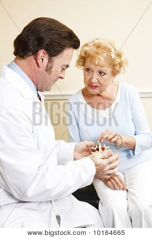 Senior Patient With Chiropractor