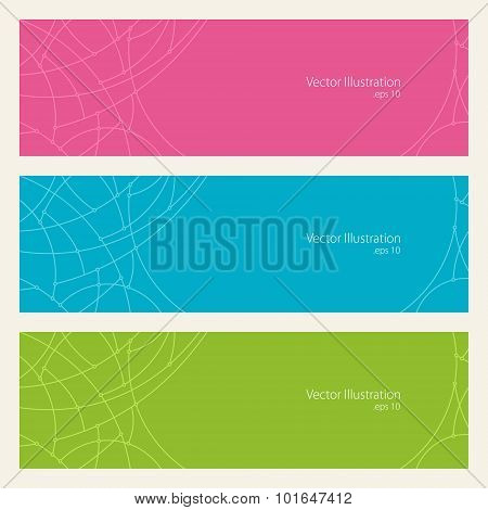 Banners with Geometric Pattern of Curves