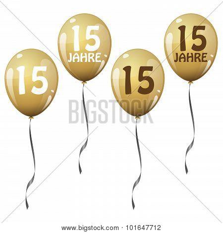 Golden Jubilee Balloons
