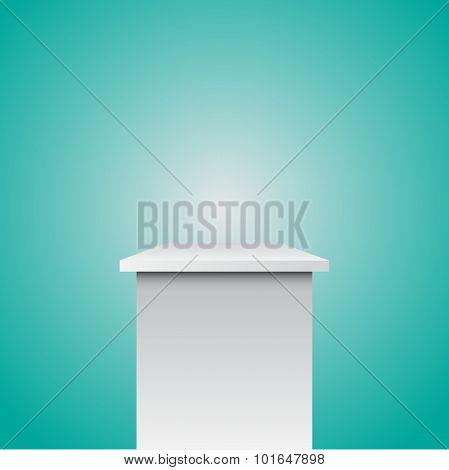 Single Empty Pedestal Eps 10
