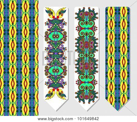 floral decorative ethnic paisley bookmark for printing