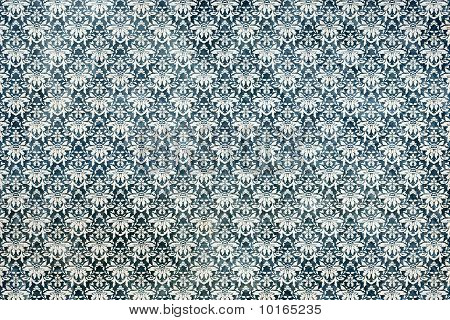 Old damask wallpaper