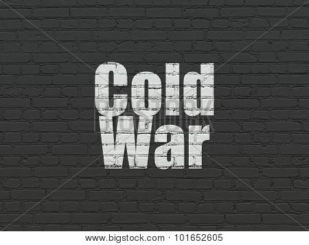 Political concept: Cold War on wall background