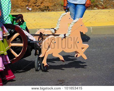 Cutout Horses On Pram