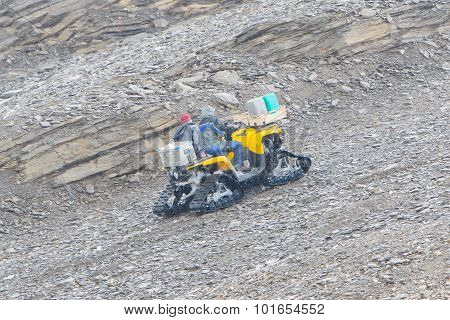 Large Heavy Snowmobile