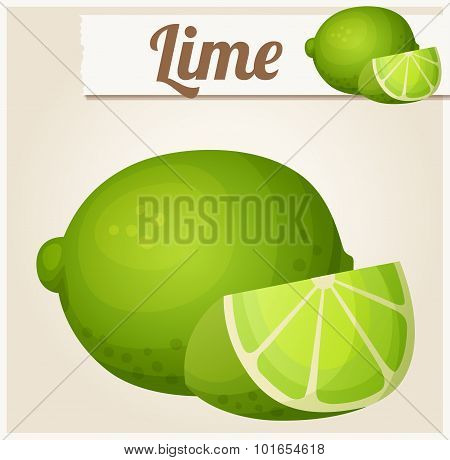 Lime. Detailed vector icon
