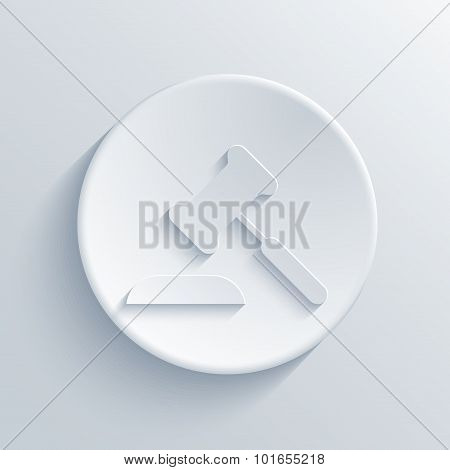 Vector modern light circle icon with shadow