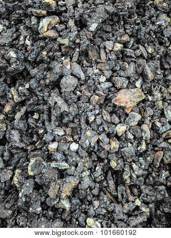 Coal black background mineral stone. Background close up