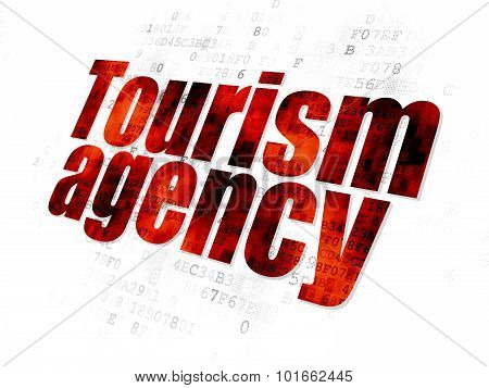 Tourism concept: Tourism Agency on Digital background