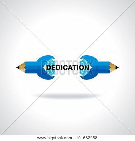 dedication concept