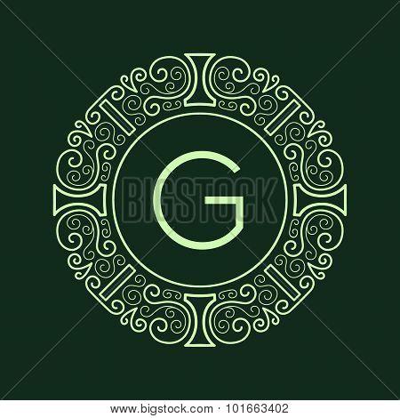 Luxury Vintage Green Frame for Monogram