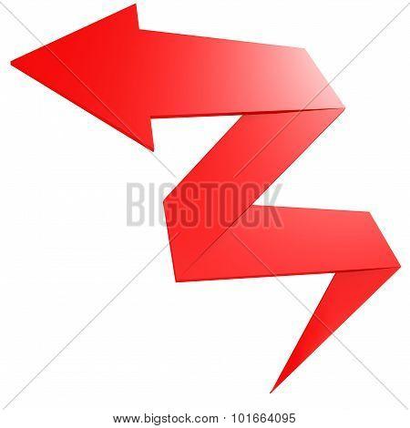 Bend Red Arrow