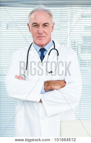 Portrait of doctor with stethoscope around his neck at clinic