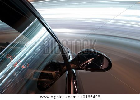 night drive with car in motion