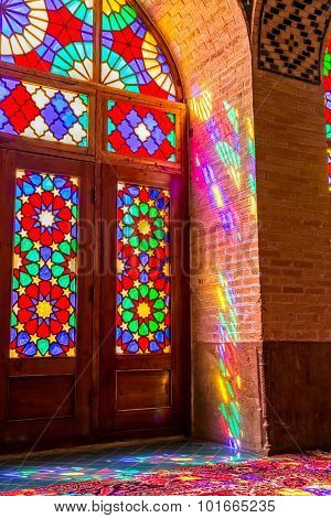 Nasir Al-Mulk Mosque colorful reflections