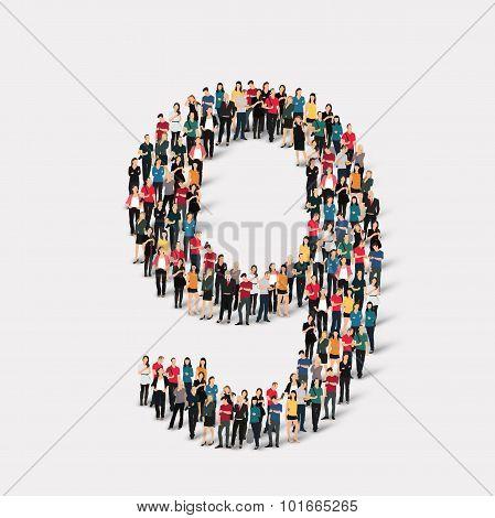 people form  number nine
