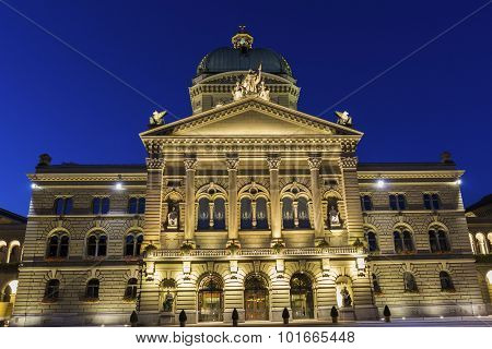 Federal Palace Of Switzerland In Bern