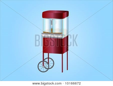 Popcorn Machine ( background on seperate layer )
