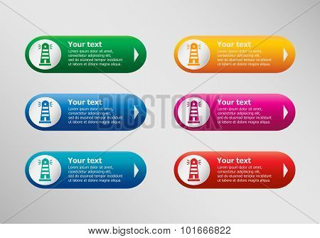 Lighthouse Icon And Infographic Design Template, Business Concept.