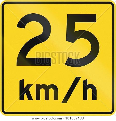 Speed Limit 25 Kmh In Canada