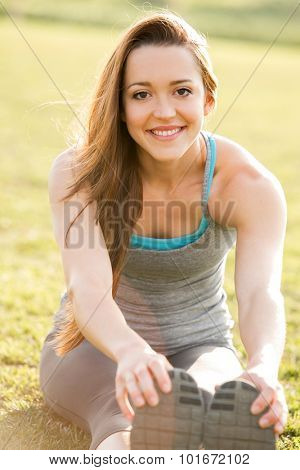Young woman outside after her workout