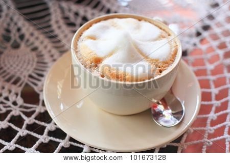 Hot coffee cappucino