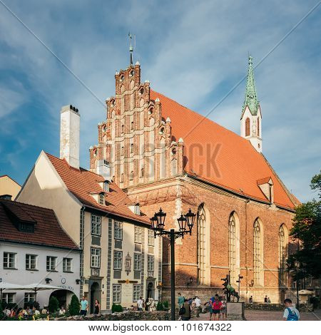 Lutheran St. John's Church, Riga, Latvia.