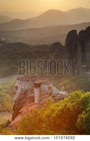 Monastery at Meteora - religios landmark in Greece
