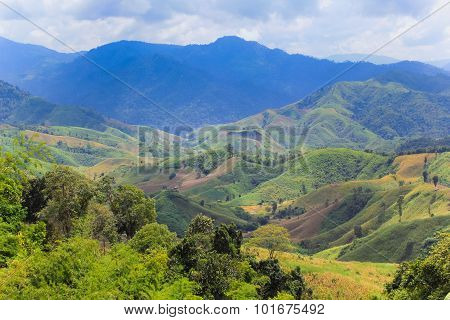 Landscape of mountains