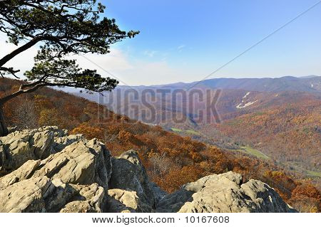 Blue Ridge Mountains View From Ravens Roost