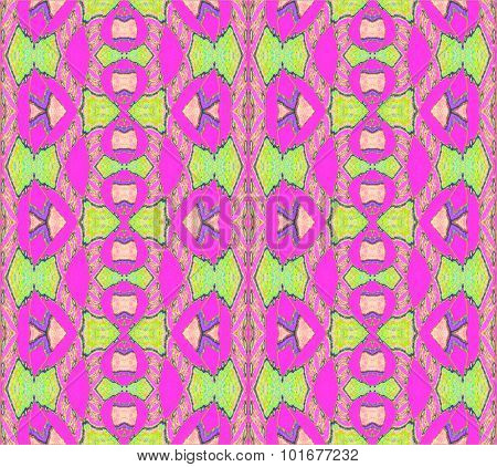 Seamless ornaments magenta green