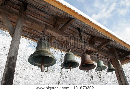 Belfry With Bells In The Open Air