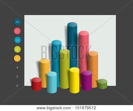 3D Colummn Chart, Graph.