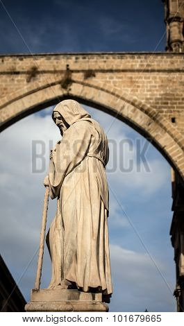 hooded religious statue palermo