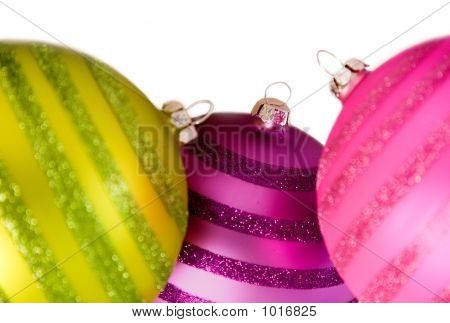 Colourful Christmas Balls On White