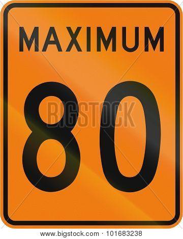 Temporary Maximum Speed 80 Kmh In Canada