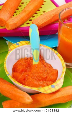 Carrot Puree For Baby