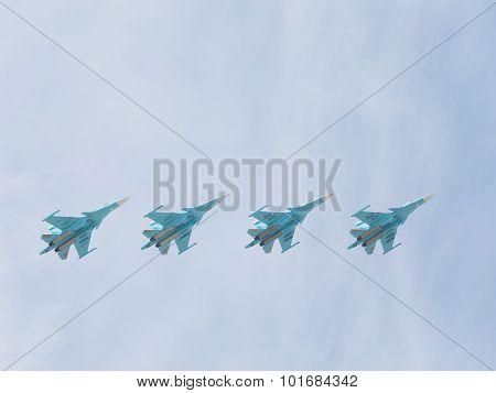 Aerobatics Su-34