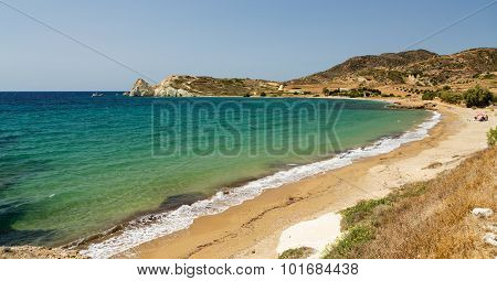 Mavrospilia beach, Kimolos island, Cyclades, Greece