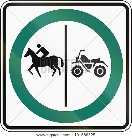 Equestrian And Atv Lane In Canada