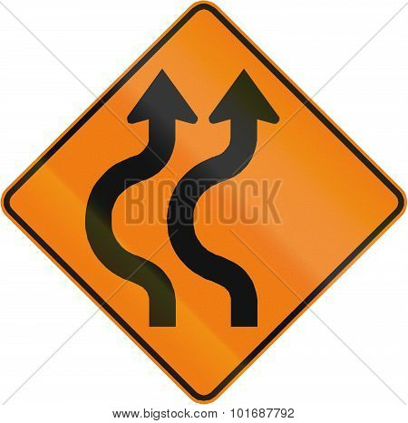 Double Two-reverse Curve To The Left In Canada