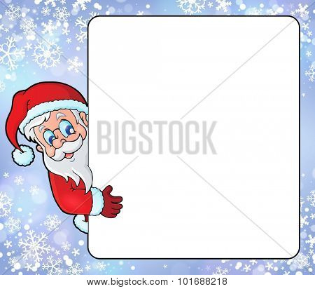 Frame with Santa Claus theme 8 - eps10 vector illustration.