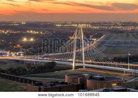 Margaret Hunt Hill Bridge By Night.