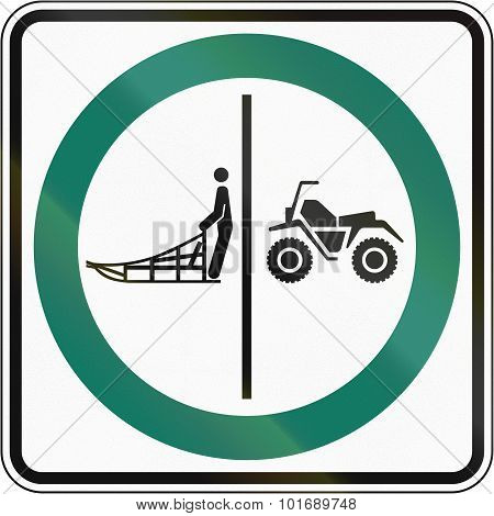 Sled And Atv Lane In Canada