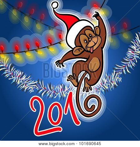 New Year Greeting Card. Vector Illustration.