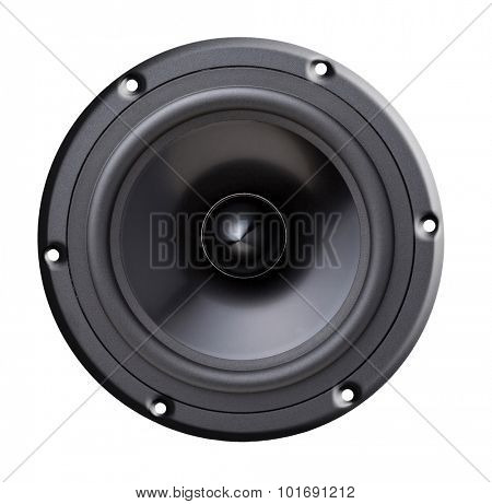 woofer speaker isolated on white
