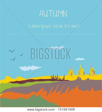 Autumn Landscape Countryside Background