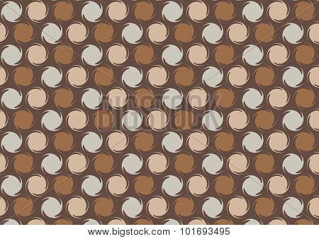 Pattern Of Rotating Circles At Dark Brown Color