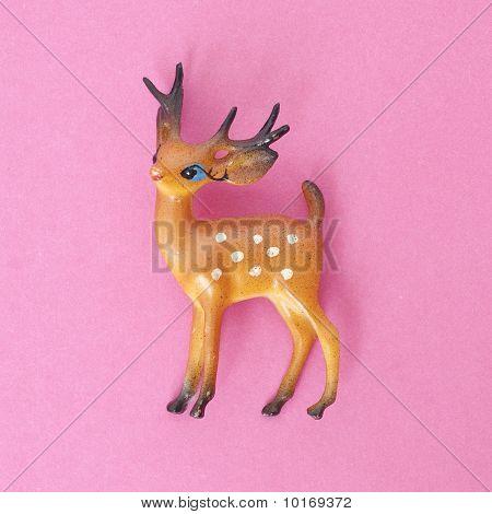Vintage Deer Holiday Toy