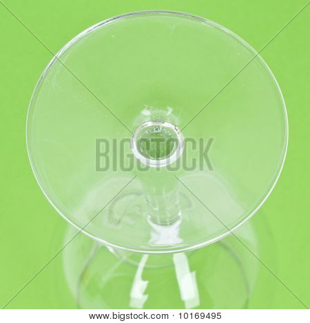 Close Up Of Wine Glass From Below